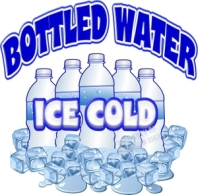 Ice cold bottled water